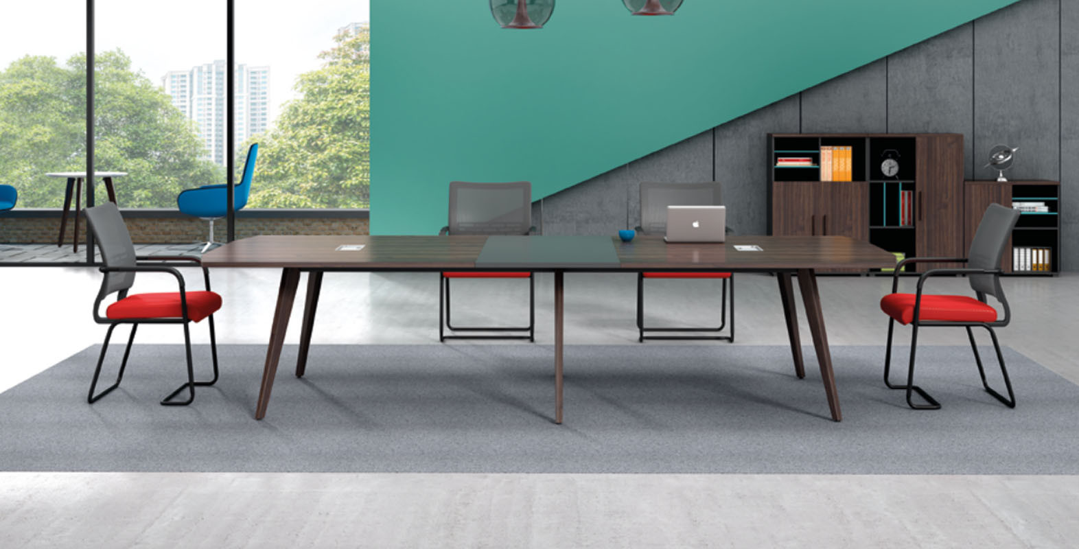 Modern Design Meeting table,made of melamine board and particle board (H2-H0336X)