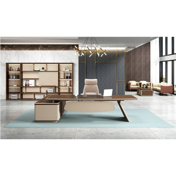 Modern Design Executive Office Desk, Made of Melamine and Laminate(ZB-14T2824)