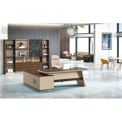 Modern Design Executive Office Desk, Made of Melamine and Laminate(ZB-15T2420)