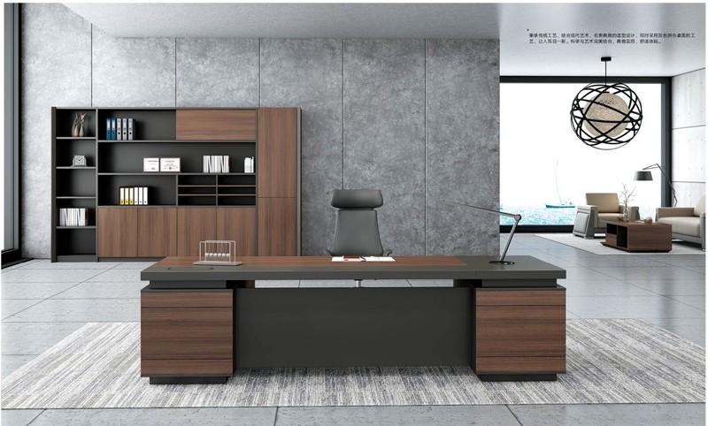 Modern Design Executive Office Desk, Made of Melamine and Laminate(KT-02T2820)