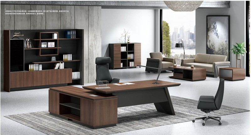Modern Design Executive Office Desk, Made of Melamine and Laminate(KT-04T2420)