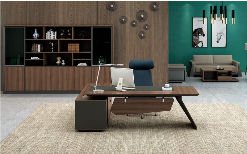 Modern Design Executive Office Desk, Made of Melamine and Laminate(KT-03T2420)
