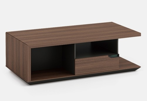 Modern Design Executive Office Desk, Made of Melamine, Oblique leg(KT-04T2420)