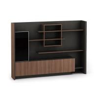 Modern Design Executive Office Desk, Made of Melamine, Oblique leg(KT-04T2420)