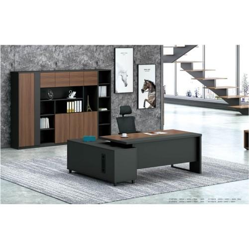 Modern Design Executive Office Desk, Made of Melamine, metal leg(KT-05T1816)