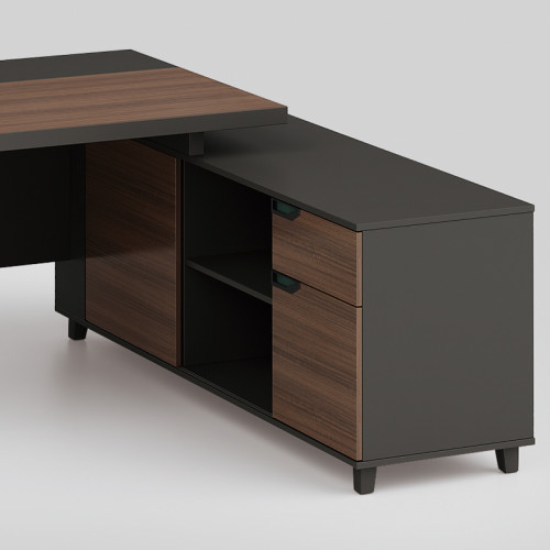 Modern Design Executive Office Desk, Made of Melamine, metal leg(KT-05T1816)