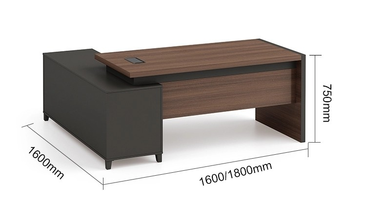 Modern Design L Shaped Executive Office Desk(KT-07T1616)