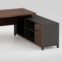 Modern Design L Shaped Executive Office Desk, Made of MFC(KT-07T1616)