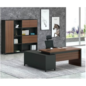 Modern Design L Shaped Executive Office Desk, Made of MFC(KT-07T1616)