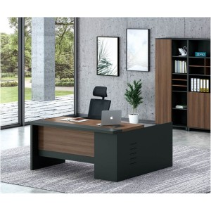 Modern Design L Shaped Executive Office Desk, Made of MFC(KT-08T1616)