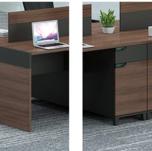 2-Person Office Screen Workstation With File Cabinet(KT-02W1412)