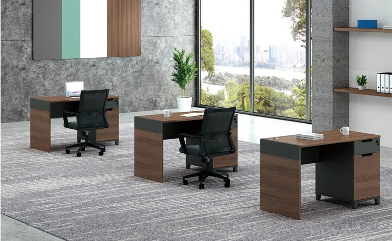 1-Person Office Workstation With File Cabinet(KT-01W1260)