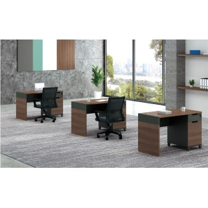 1-Person Office Screen Workstation With File Cabinet(KT-01W1260)