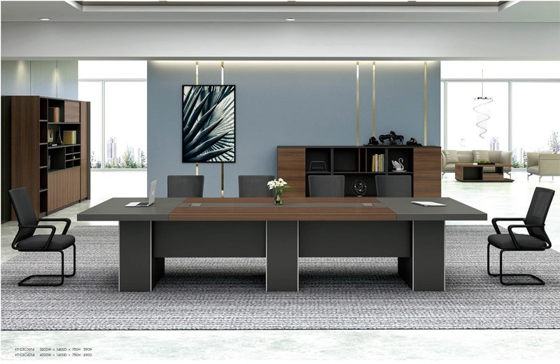 Modern Design Conference table,made of MFC melamine board (KT-03C3614)