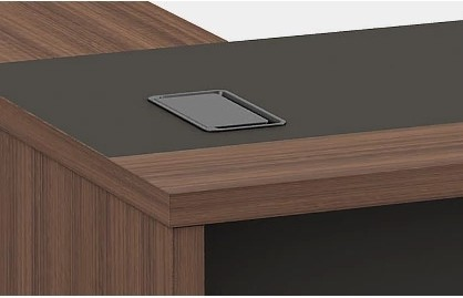Modern Design L Shaped Executive Office Desk, Made of MFC(KT-06T1816)