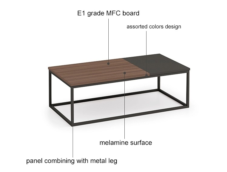 Wholesale wooden office tea table with drawer (KT-01F1470)