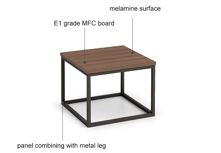 Wholesale small square corner coffee table  (KT-02F6060)