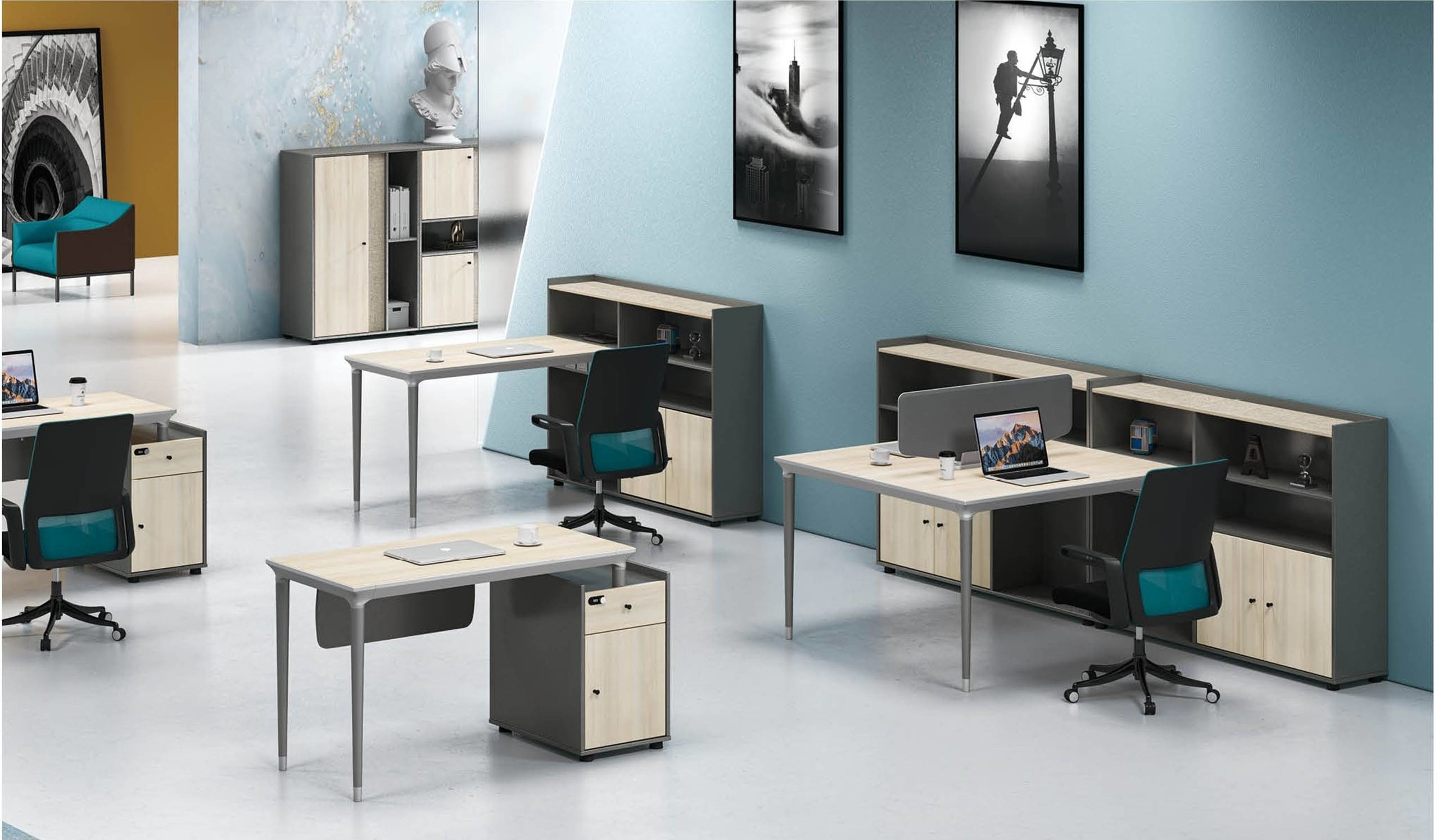 RS-32W# 1-person Office Workstation