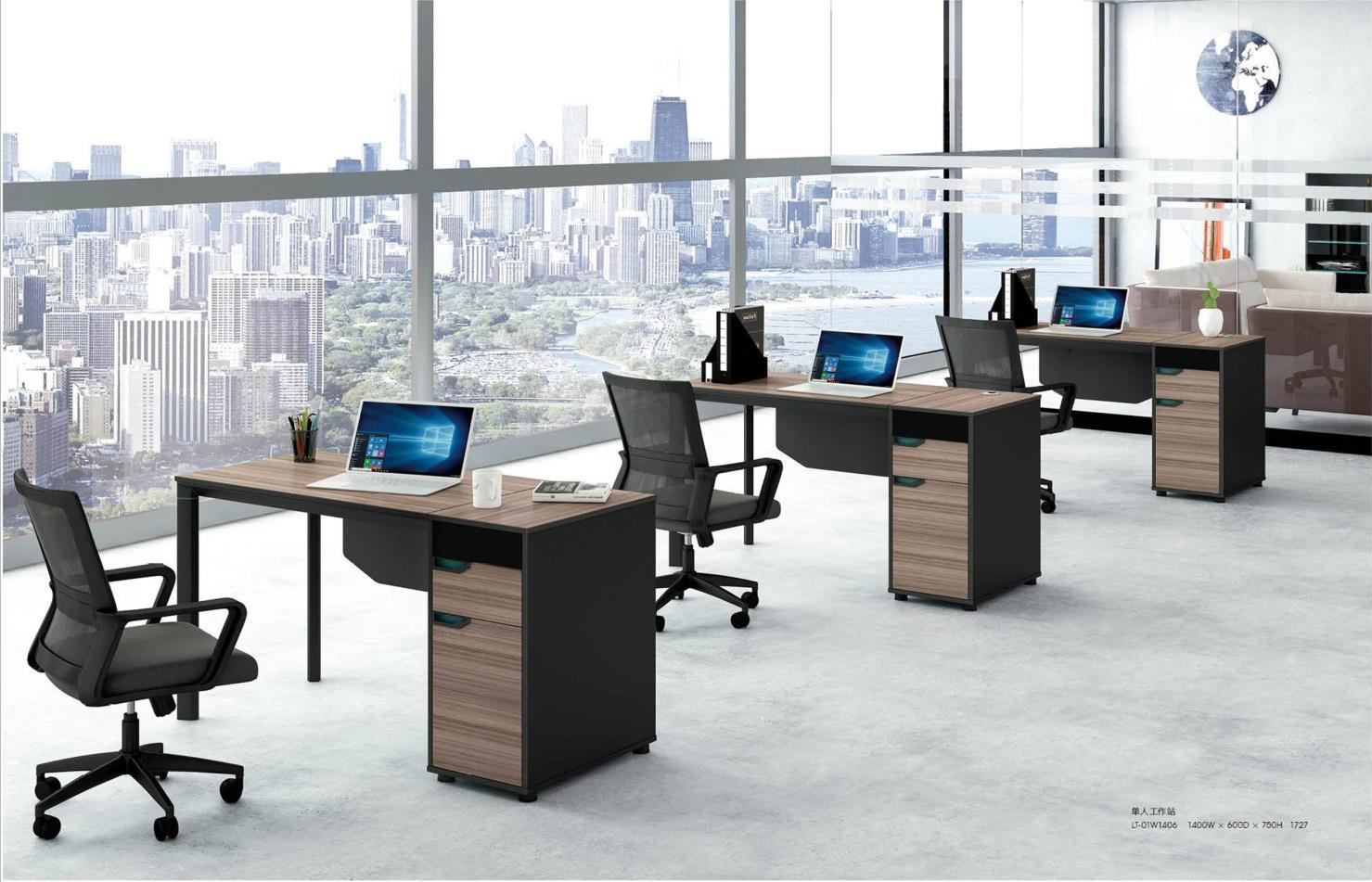 LT-01W#  1-person Office Workstation