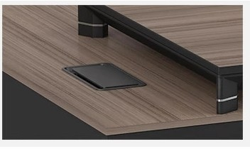 Modern Design L Shaped Executive Office Desk, Made of MFC(KT-01T1816)