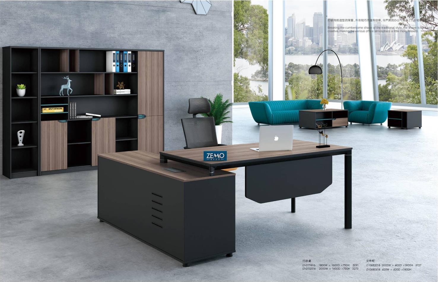 Modern Design L Shaped Executive Office Desk, Made of MDF(LT-01T1816)