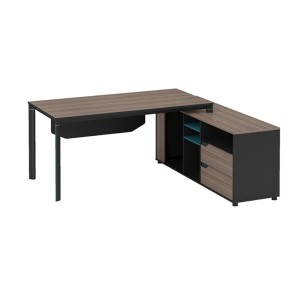 Modern Design L Shaped Executive Office Desk, Made of MFC(KT-01T1816)