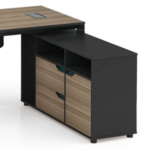 Modern Design Executive Office Desk, Made of Melamine, Aluminium Triangular Legs(LT-02T1616)