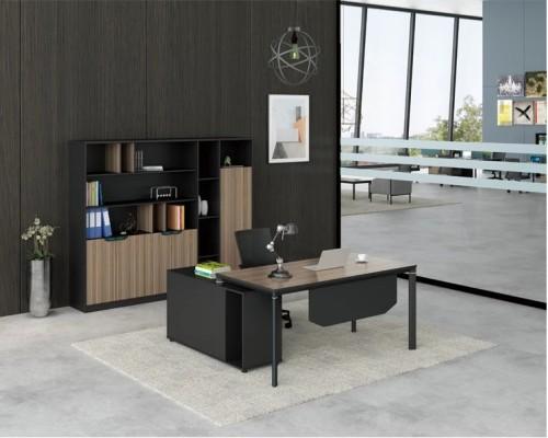 Modern Design Executive Office Desk, Made of Melamine, Aluminium Triangular Legs(LT-02T1616)
