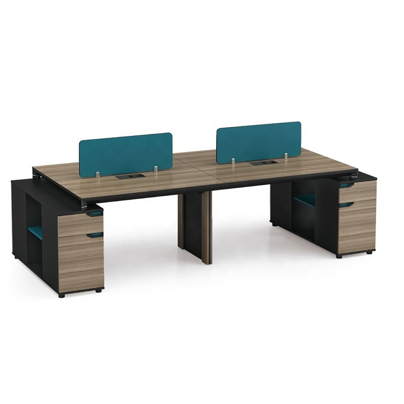 4-Person Office Screen Workstation With File Cabinet(LT-07W2812)