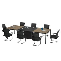 Modern Design 8 Seater Conference Table, made of melamine board (LT-02C3213)