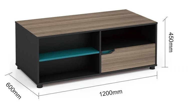 Wholesale wooden office tea table with drawer (LT-02F1206)