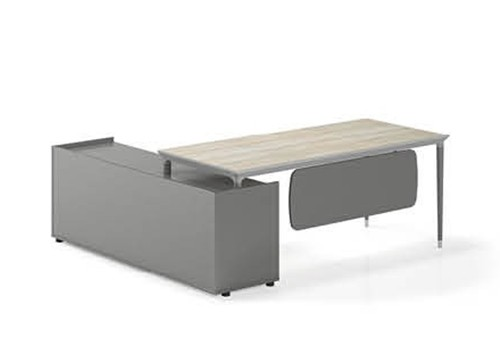 Modern Design L Shaped Executive Office Desk, Made of MFC(RS-31T1818)