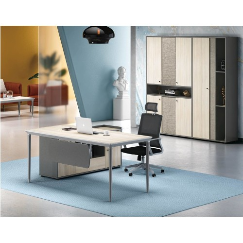 Modern Design L Shaped Executive Office Desk, Made of MFC(RS-32T1816)