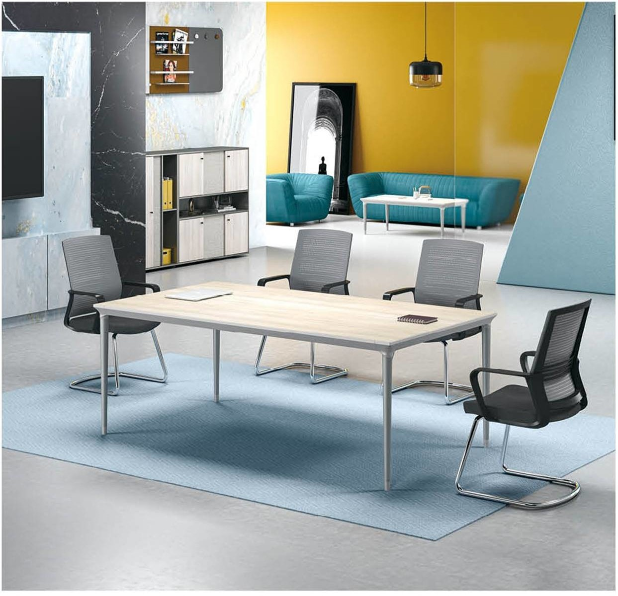 Modern Design 6 Seater Conference table,made of MFC melamine board (RS-31C2010)