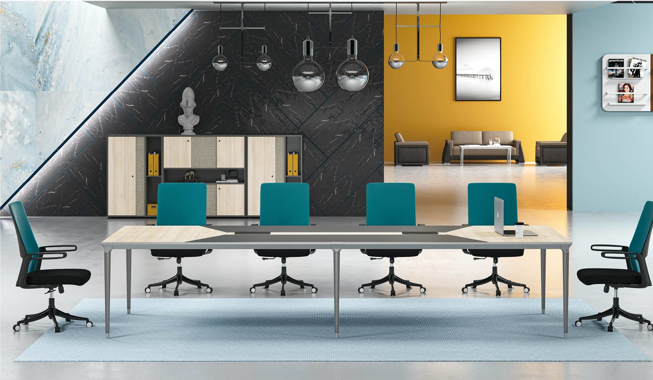 Modern Design 6 Seater Conference table,made of MFC melamine board (RS-32C3214)