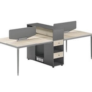 4-Person Office Screen Workstation With File Cabinet(RS-33W2812)