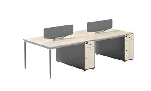 4-Person Office Screen Workstation With File Cabinet(RS-31W2812)