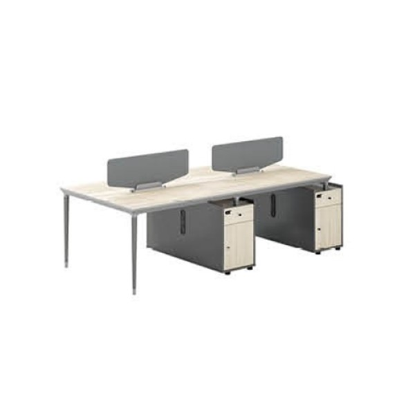 4-Person Office Screen Workstation With File Cabinet(RS-32W2612)