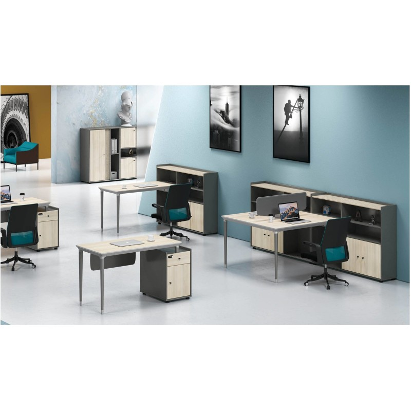 1-Person Office Screen Workstation With File Cabinet(RS-32W1406)