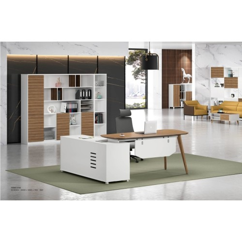 Modern Design L Shaped Executive Office Desk, Made of MFC(DS-04T2016)