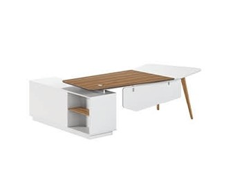 Modern Design Irregular Shaped Executive Office Desk, Made of MFC(DS-01T2409)