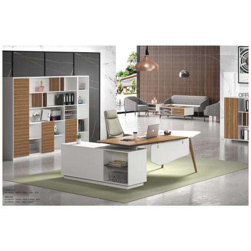 Modern Design Irregular Shaped Executive Office Desk, Made of MFC(DS-01T2409)