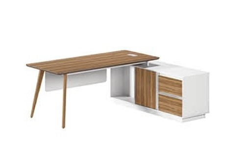 Modern Design L Shaped Executive Office Desk, Made of MFC(DS-02T1880)