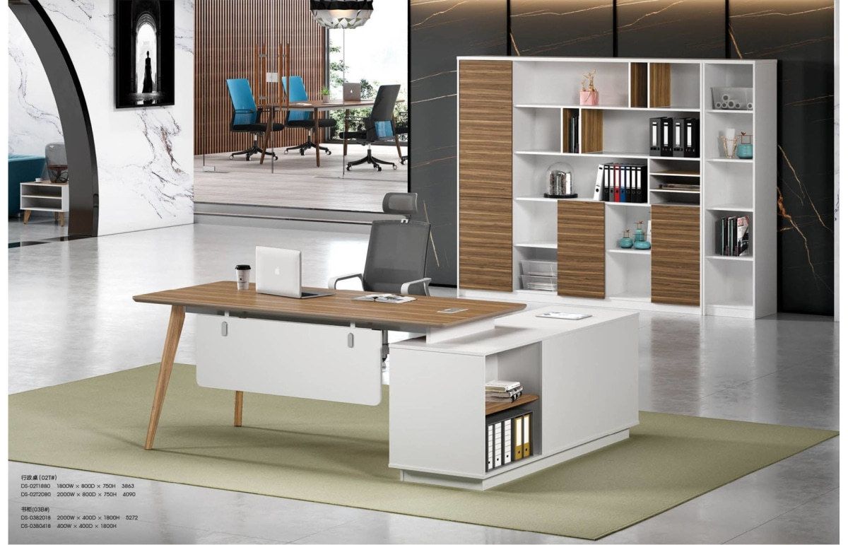 Modern Design L Shaped Executive Office Desk, Made of MDF(DS-02T1880)