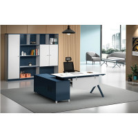 Modern Design L Shaped Executive Office Desk With Aluminum Legs (MS-51T1816)