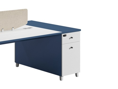 2-Person Office Screen Workstation Office Desk With File Cabinet ( MS-55W1612)