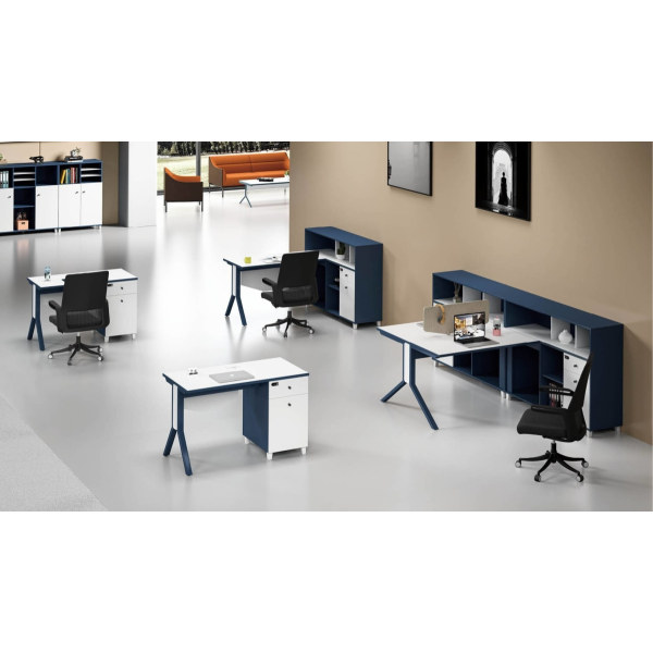 1-Person Office Screen Workstation Office Desk With File Cabinet ( MS-51W1206)