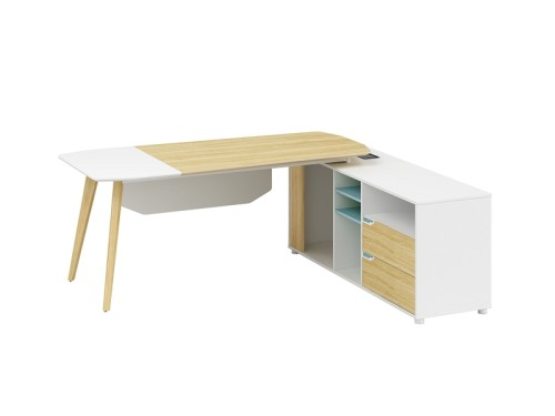 Modern Design L Shaped Executive Office Desk, Made of MFC(YM-01T2016)