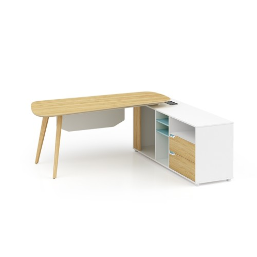 Modern Design L Shaped Executive Office Desk, Made of MFC(YM-02T2016)