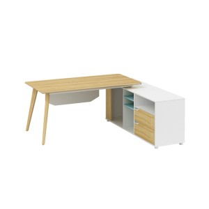 Modern Design L Shaped Executive Office Desk, Made of MFC(YM-03T1816)